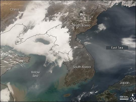 미세먼지 위성사진
